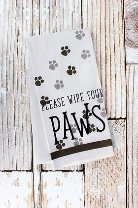 Wipe Your Paws Tea Towel