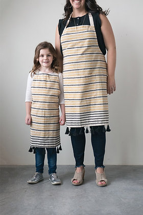 Cotton Woven Apron with Fringe
