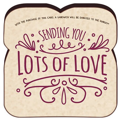 """""""Sending You Lots Of Love"""" card by Food For Thoughts"""