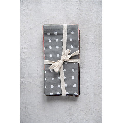 Cotton Polka Dot Napkin Set of 4
