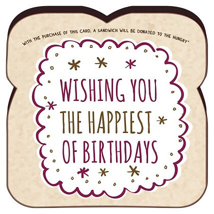 """Wishing You The Happiest Of Birthdays"" Card by Food For Thoughts"