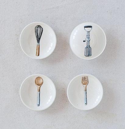 Small Stoneware Utensil Plate