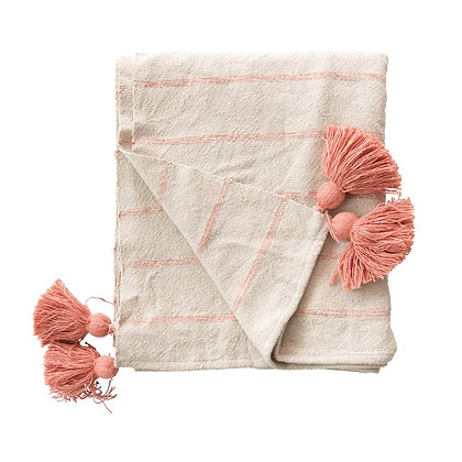 Woven Recycled Cotton Throw