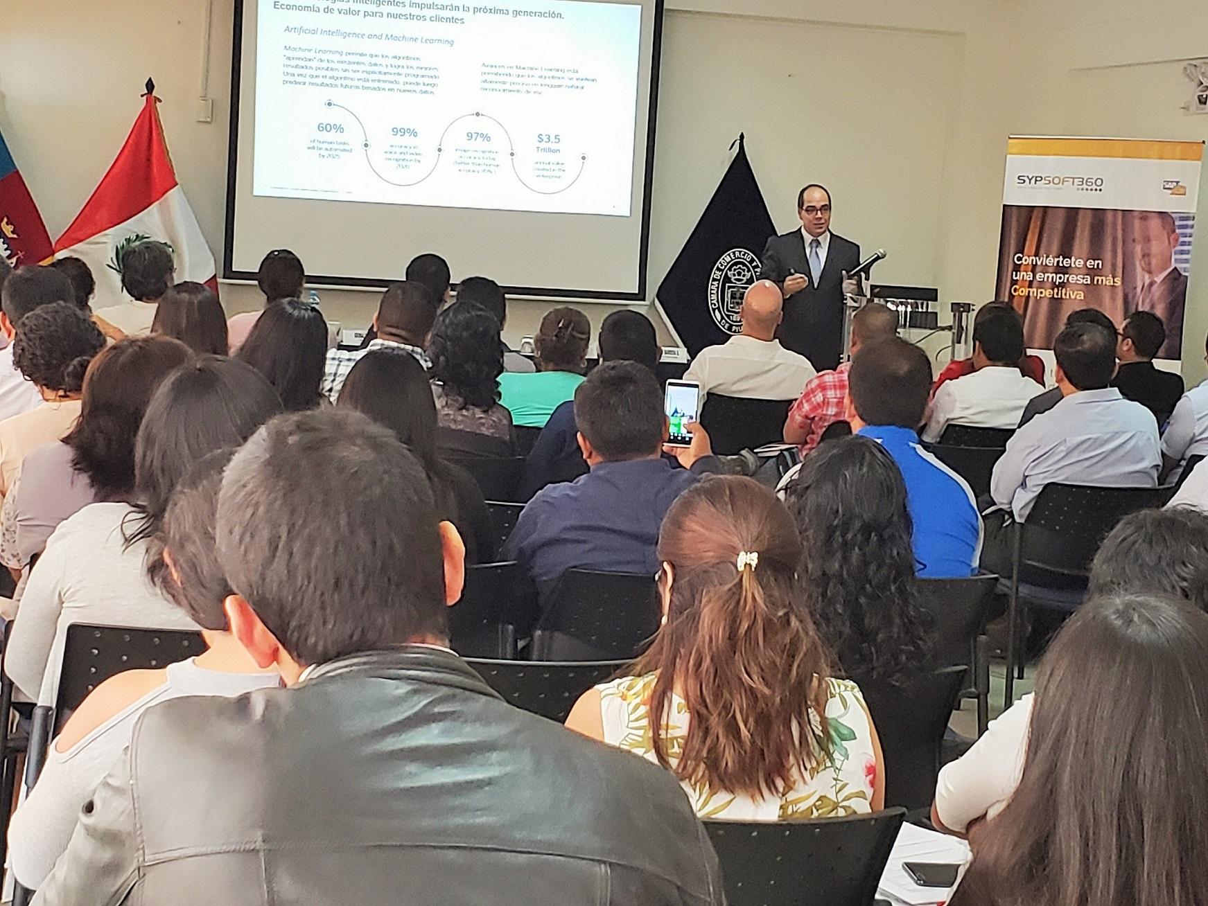 Ricardo Gargurevich de SAP - Evento con Sypsoft360 en Piura