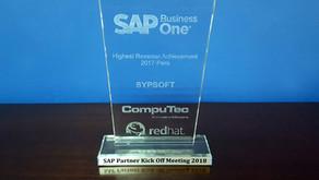 SAP premia a SYPSOFT360 Perú por su liderazgo en ventas 2017