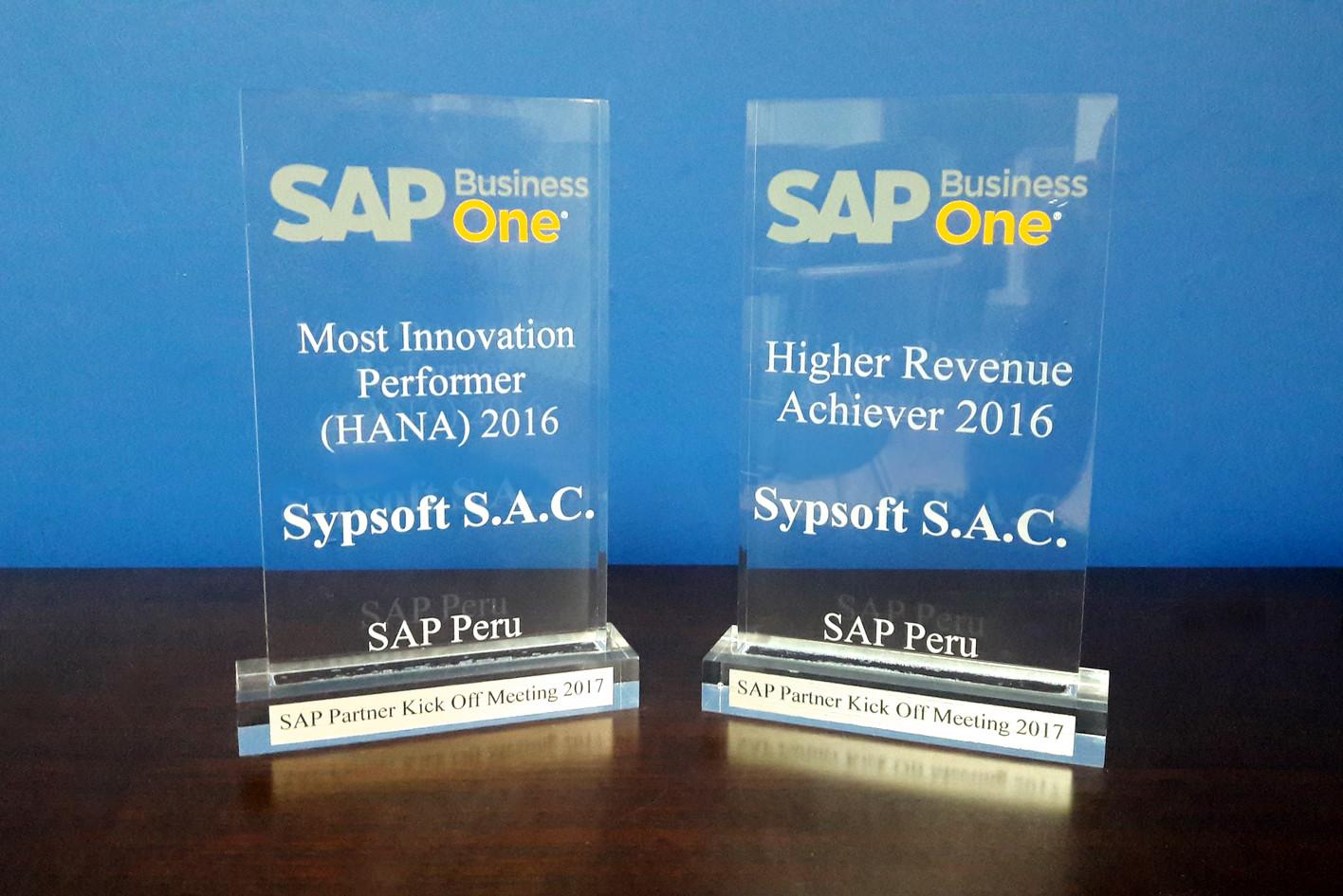 Most Innovation Performer HANA - Higher Revenue Achiever