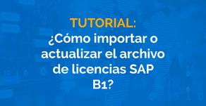 ¿Cómo importar o actualizar el archivo de licencias SAP B1?