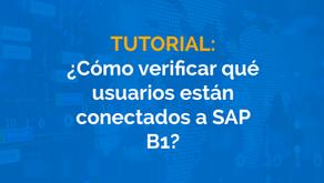 ¿Cómo verificar qué usuarios están conectados a SAP B1?