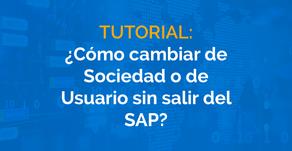 ¿Cómo cambiar de sociedad o de usuario sin salir de SAP B1?