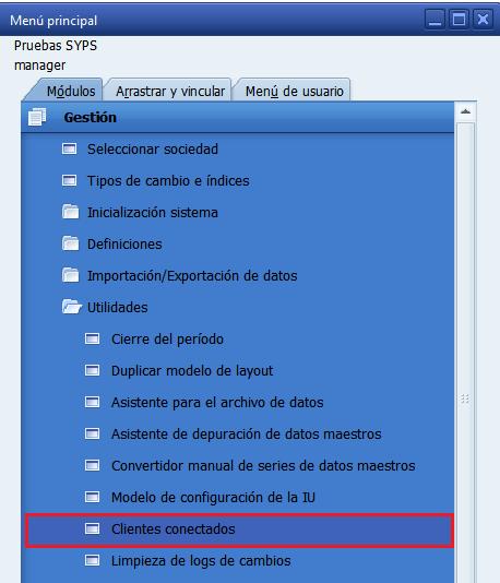 usuarios conectados en SAP