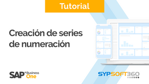 Creación de Series de Numeración en SAP Business One y Sypsoft