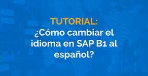 ¿Cómo cambiar el idioma en SAP B1 al español?