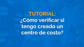¿Cómo verificar si tengo creado un centro de costo?
