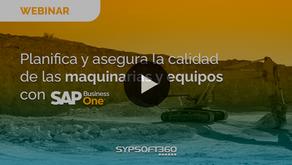 Webinar SAP B1 para maquinarias y equipos