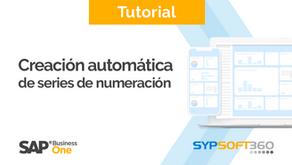 Tutorial | Creación automática de series de numeración