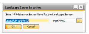 Landscape Server Selection