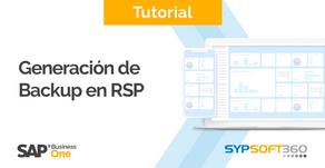 Generación de backup en RSP
