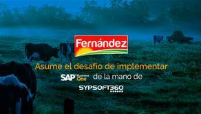 Fernández, asume el desafío de implementar SAP Business One de la mano de Sypsoft360