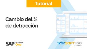 Modificación del porcentaje de las Detracciones con el BPS SYPSOFT