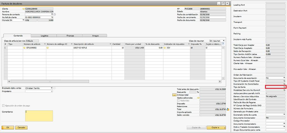 Factura de Proveedores en SAP
