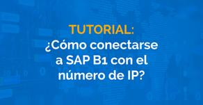 ¿Cómo conectarse a SAP B1 con el número de IP?