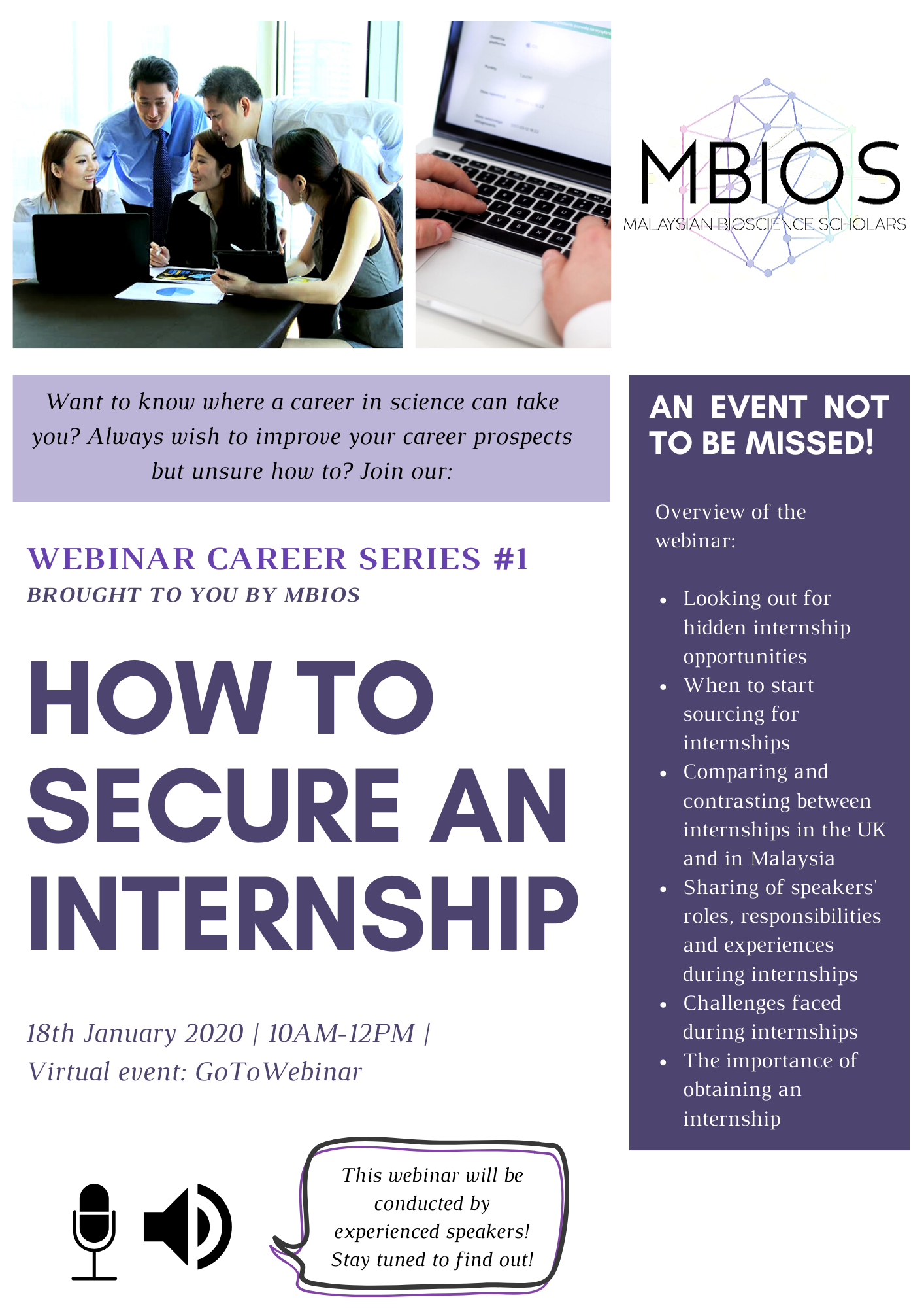 WEBINAR CAREER SERIES #1 Brought to you