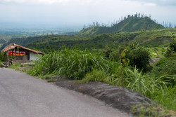 Merapi vulcano hills