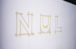 Nul, egg tempera on wall.