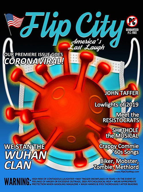 Flip City in PRINT Subscription  --   (6 Issues, starts with #7 JULY 2021)