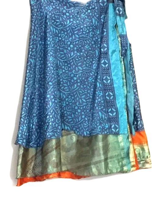 "Magic Silk Wrap Skirt (Long) (Length 72"", Width 39"")"
