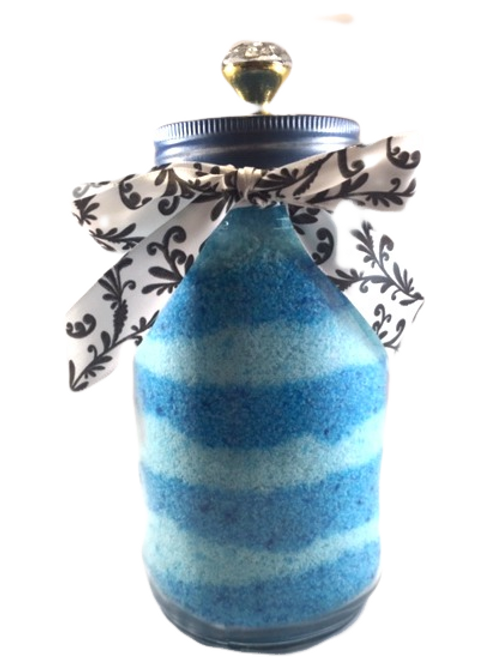 Ocean Spray Dead Sea Salt Soak w/ Eco Friendly Refillable, Decorative Jar
