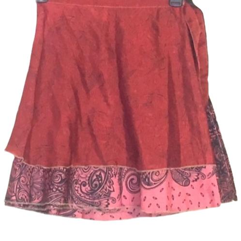 "Magic Silk Wrap Skirt (Small) (Length 19.5"", Width 50"")"
