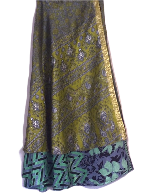 "Magic Silk Wrap Skirt (Large) (48"" wide, 36.5"" long)"