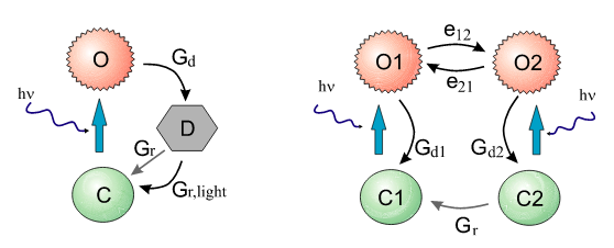 Photocycles of Channelrhodopsin-2