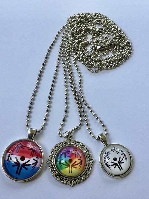 Special Olympics Logo Necklace