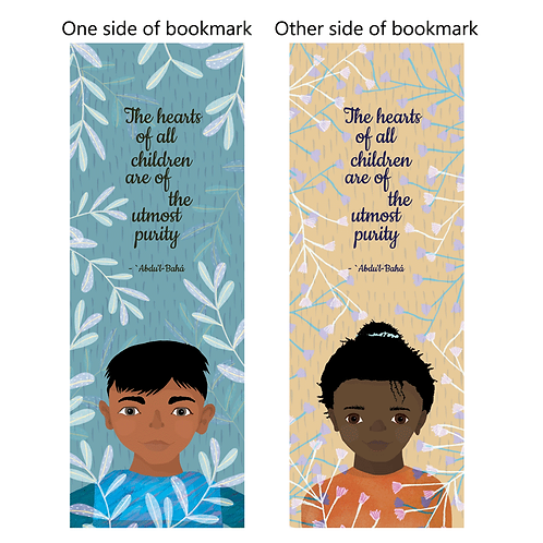 """Quote """"The hearts of all children.."""" - bookmarks - pack of 10"""