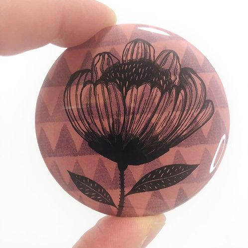 Pocket mirror - Flower drawing 3