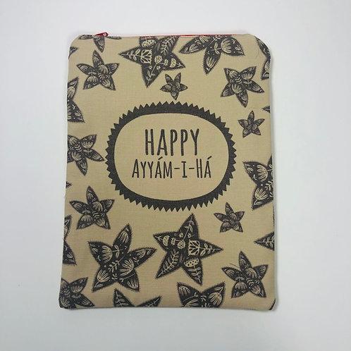 Zipper Ayyam-i-Ha pouch - design 2