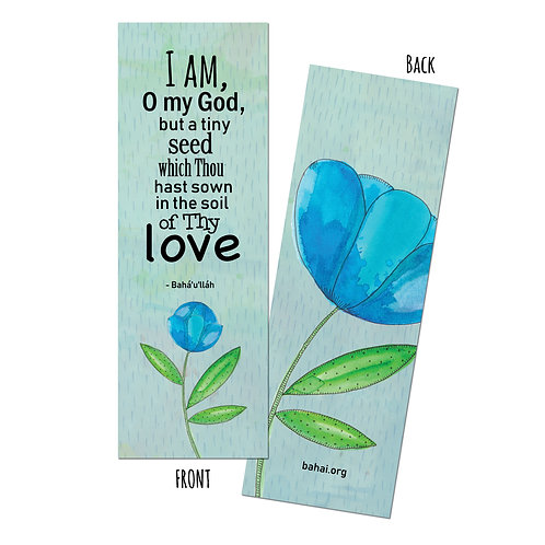 I am but a tiny seed - bookmark pack of 10