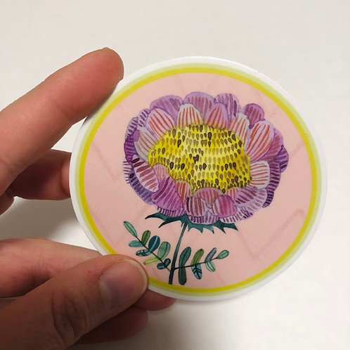 Round Flower sticker