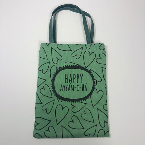 Small green Ayyam-i-Ha bag - design 3