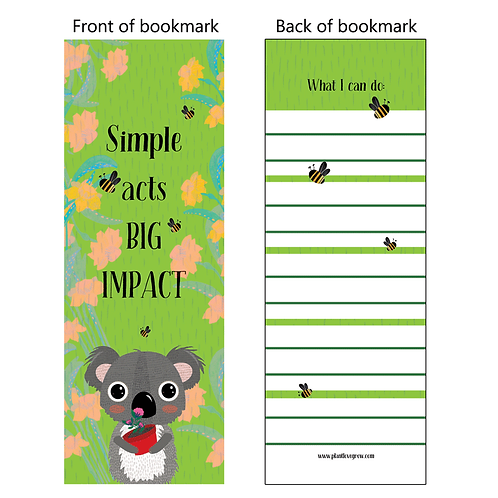 Simple acts BIG IMPACT - bookmarks - pack of 10