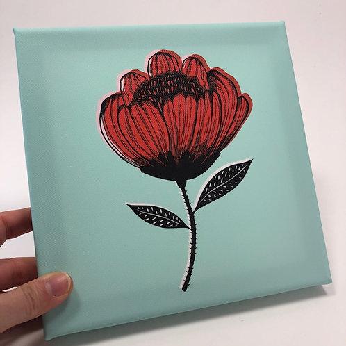 Little flower canvas