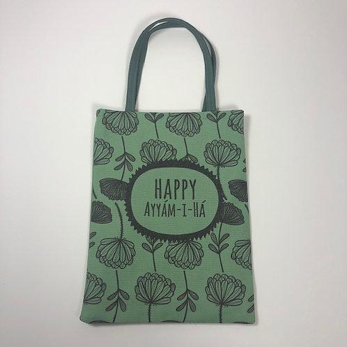 Small green Ayyam-i-Ha bag - design 1