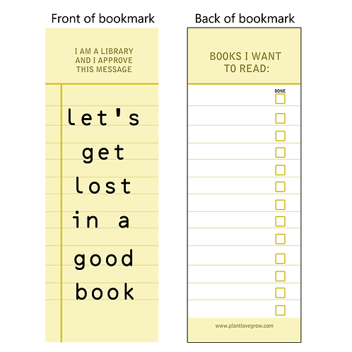 Let's get lost in a good book - bookmarks - pack of 10