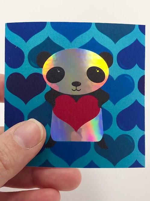 Little Panda holographic sticker