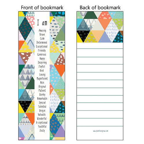 I am - bookmarks - pack of 10