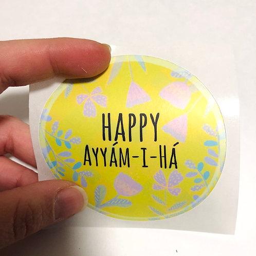 Ayyam-i-Ha sticker round