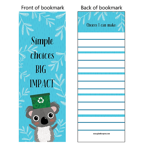 Simple choices BIG IMPACT - bookmarks - pack of 10