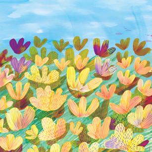 Field of flowers by Elaheh Bos